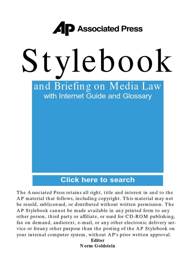 AP Style Book Guide.pdf | Associated Press | Amtrak
