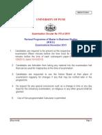 Revised Programme for m.b.s. Nov 2013