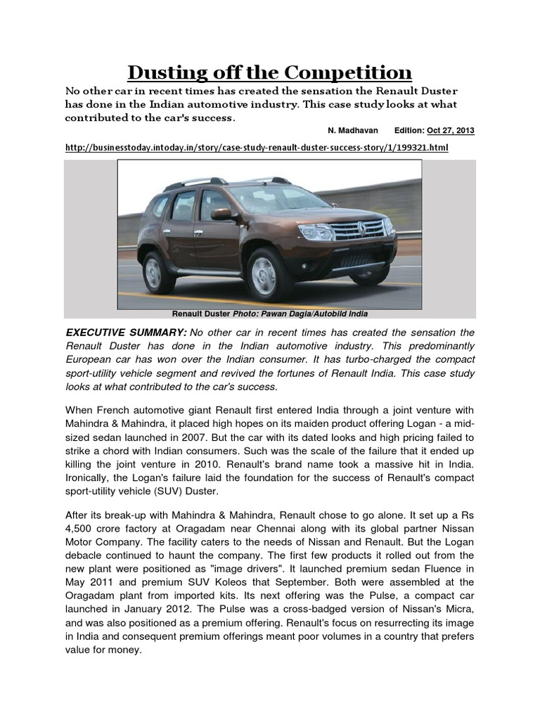 Dusting off the competition_dealing with competition sport utility vehicle renault