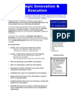 Strategic Innovation & Execution Brochure