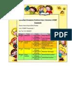 Rancangan Pengajaran Praktikum Fasa 1 Semester 5 PISMP Prasekolah