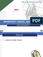 SD-EUT-11 Cancel Good Issue