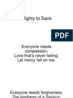 Mighty to Save Powerpoint