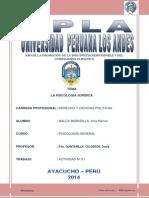 LA PSICOLOGÍA JURÍDICA - UPLA 2014