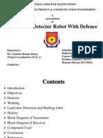 Land Mine Detector Robot