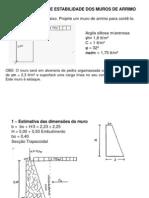 2- SOLOS 02 - Verificação da Estabilidade dos Muros de Arrimo