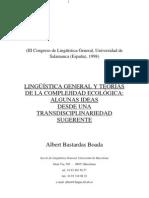 Lingüística General y teorías de la complejidad ecológica