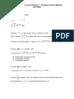 Lista de Exercícios Cálculo 3A Mathias