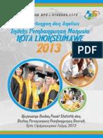 Indeks Pembangunan Manusia (IPM) 2013 / Human Development Index (HDI) 2013
