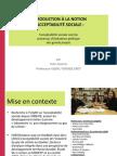 INTRODUCTION À LA NOTION D'ACCEPTABILITÉ SOCIALE