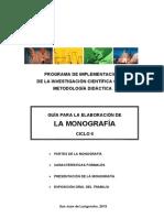 Guía de monografía 2014-I