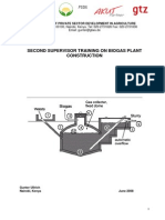 Second Supervisor Training-handout on Biogas Plant Const