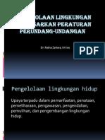 Pengelolaan Lingkungan Berdasarkan Peraturan Perundang-undangan (2)