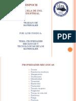 Propiedades Mecanicas y Tecnologicas de Los Materiales