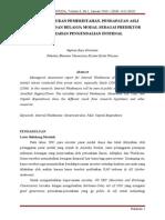 Pengaruh Ukuran Pemerintahan, PAD, Dan Belanja Modal Sebagai Prediktor Kelemahan Pengendalian Internal
