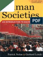 Patrick Nolan, Gerhard Lenski- Human Societies