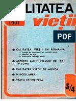 Revista Calitatea Vietii Anul 2-1991