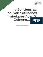 Delorme, Demesvar - Les théoriciens au pouvoir