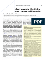 Mouse Models of Alopecia- Identifying Structural Genes That Are Baldly Needed