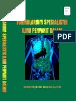 Formularium Spesialistik Ilmu Penyakit Dalam