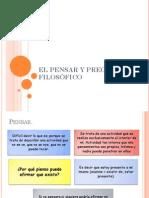 EL PENSAR Y PREGUNTAR FILOSÓFICO
