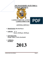 REPORTE DE ANTENAS N°001