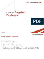 Oracle Supplied Packages