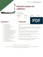 Sabores en Linea - Fetuccini Al Pesto Con Mejillones - 2014-01-20