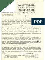 Tract Vouloir Pouvoir Fugitif 1995