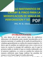 4º MODELO MATEMATICO DE  CROSBY & PINCO PARA LA