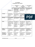 Cell Model Rubric