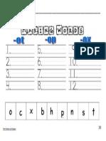 making words recording sheet op ot ox
