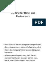 Lighting for Hotel and Restaurants