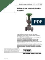 FISHER Valvulas Control Alta Presion