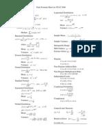 Final Formula Sheet Statistics
