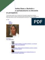 28 de noviembre de 2013 Vocera de Matthei llama a Bachelet a ordenar a sus parlamentarios en discusión de presupuesto