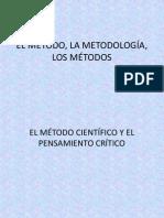 EL MÉTODO, LA METODOLOGÍA, LOS MÉTODOS