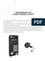 Manual Programador Pg4010
