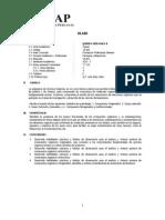 Silabo Quimica Organica II 2013
