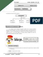 III Bim - 2do. año - Guía 2 - Acelomados - Poríferos