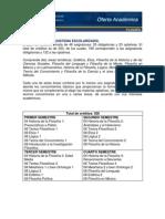 Plan de estudios Filosofía. FFyL, UNAM.