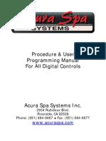 Acura Spa Systems Inc Manual