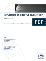 Reflections on Executive Development
