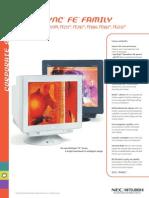 Monitors NEC CRT FE Superbright Series Brochure - 17-22 Inch (770,771,791,990.991,2111) - 2002-04