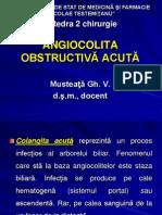 Angiocolita obstructiva acuta