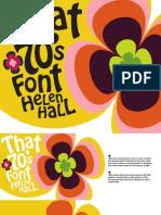 Typeface Spec Project Booklet