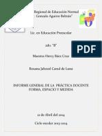 Informe General de La Practica Docente