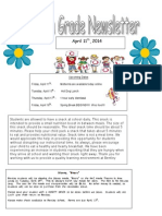 fourth grade newsletter 4-11