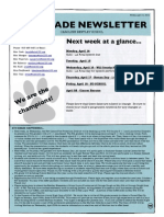 6th grade newsletter april 11 2014