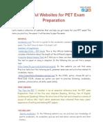 Useful Websites for PET Preparation